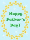 πατέρες ημέρας ευτυχείς Στοκ Εικόνα