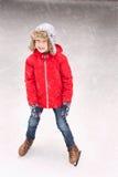 Πατινάζ πάγου αγοριών Στοκ Εικόνα