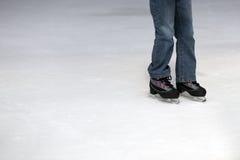 πατινάζ πάγου παιδιών Στοκ Φωτογραφία