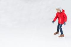 Πατινάζ πάγου παιδιών Στοκ Εικόνες