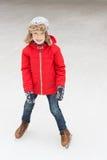 Πατινάζ πάγου παιδιών Στοκ φωτογραφίες με δικαίωμα ελεύθερης χρήσης