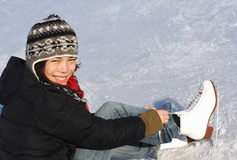 πατινάζ πάγου Στοκ φωτογραφίες με δικαίωμα ελεύθερης χρήσης
