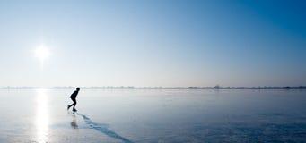 πατινάζ πάγου Στοκ Φωτογραφία
