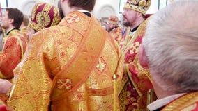 Πατριάρχης Kirill της Μόσχας και όλης της Ρωσίας ο προϊστάμενος της ρωσικής Ορθόδοξης Εκκλησίας απόθεμα βίντεο