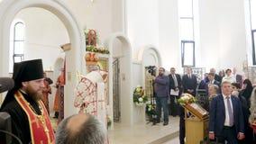 Πατριάρχης Kirill της Μόσχας και όλης της Ρωσίας ο προϊστάμενος της ρωσικής Ορθόδοξης Εκκλησίας φιλμ μικρού μήκους