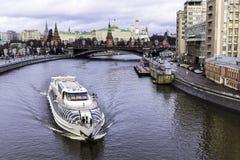 πατριαρχική όψη του Κρεμλίνου γεφυρών Στοκ εικόνες με δικαίωμα ελεύθερης χρήσης