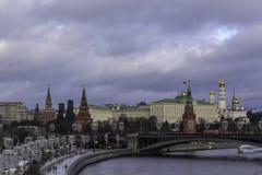 πατριαρχική όψη του Κρεμλίνου γεφυρών Στοκ Φωτογραφία