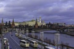 πατριαρχική όψη του Κρεμλίνου γεφυρών Στοκ εικόνα με δικαίωμα ελεύθερης χρήσης