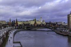 πατριαρχική όψη του Κρεμλίνου γεφυρών Στοκ Εικόνες