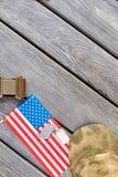 Πατριωτικά αμερικανικά προϊόντα πρώτης ανάγκης στρατιωτών Στοκ φωτογραφία με δικαίωμα ελεύθερης χρήσης