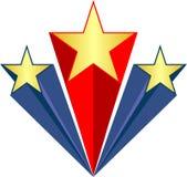 πατριωτικά αστέρια AI Στοκ φωτογραφία με δικαίωμα ελεύθερης χρήσης