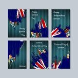 Πατριωτικές κάρτες Cayman για τη εθνική μέρα απεικόνιση αποθεμάτων