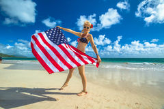 Πατριωτική αμερικανική έννοια Στοκ φωτογραφία με δικαίωμα ελεύθερης χρήσης