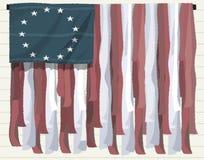 Πατριωτική ανασκόπηση αμερικανικών σημαιών Στοκ εικόνες με δικαίωμα ελεύθερης χρήσης