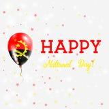 Πατριωτική αφίσα εθνικής μέρας της Ανγκόλα Στοκ εικόνες με δικαίωμα ελεύθερης χρήσης