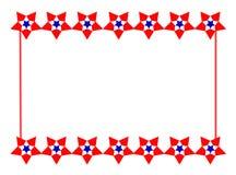 πατριωτικό αστέρι συνόρων Στοκ Φωτογραφία