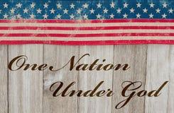 Πατριωτικό μήνυμα ένα της Αμερικής έθνος κάτω από το Θεό στοκ φωτογραφίες με δικαίωμα ελεύθερης χρήσης