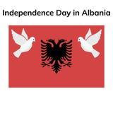 Πατριωτικό σχέδιο ημέρας της ανεξαρτησίας της Αλβανίας διανυσματική απεικόνιση