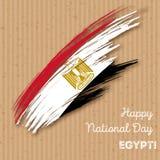 Πατριωτικό σχέδιο ημέρας της ανεξαρτησίας της Αιγύπτου Στοκ Φωτογραφία
