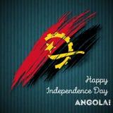 Πατριωτικό σχέδιο ημέρας της ανεξαρτησίας της Ανγκόλα Στοκ Φωτογραφίες