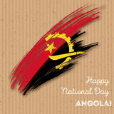 Πατριωτικό σχέδιο ημέρας της ανεξαρτησίας της Ανγκόλα Στοκ φωτογραφία με δικαίωμα ελεύθερης χρήσης