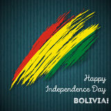 Πατριωτικό σχέδιο ημέρας της ανεξαρτησίας της Βολιβίας Στοκ εικόνα με δικαίωμα ελεύθερης χρήσης