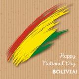 Πατριωτικό σχέδιο ημέρας της ανεξαρτησίας της Βολιβίας Στοκ Εικόνα