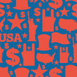 Πατριωτικό σχέδιο συμβόλων της Αμερικής ΑΜΕΡΙΚΑΝΙΚΗ εθνική διακόσμηση Στοκ φωτογραφία με δικαίωμα ελεύθερης χρήσης