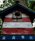 Πατριωτικό Birdhouse Στοκ φωτογραφία με δικαίωμα ελεύθερης χρήσης