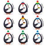 Πατριώτες ανεμιστήρων ανεμιστήρων συλλογής penguins της χώρας Στοκ Εικόνες
