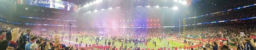 Πατριώτες λι SuperBowl που κερδίζουν τον εορτασμό Στοκ εικόνα με δικαίωμα ελεύθερης χρήσης