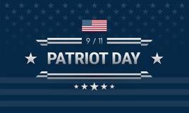 Πατριώτης ημέρα 9/11 ισχυρό σχέδιο Σκούρο μπλε υπόβαθρο W που ενώνεται ελεύθερη απεικόνιση δικαιώματος