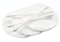 Πατσαβούρες βαμβακιού και μαξιλάρια βαμβακιού Στοκ φωτογραφία με δικαίωμα ελεύθερης χρήσης