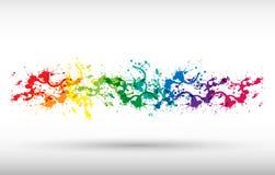 παφλασμοί χρωμάτων χρώματος Στοκ Φωτογραφία