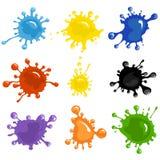 παφλασμοί χρωμάτων Στοκ εικόνες με δικαίωμα ελεύθερης χρήσης