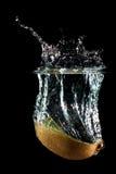 παφλασμός ακτινίδιων καρπ Στοκ Εικόνες