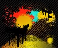 παφλασμός ανασκόπησης grunge απεικόνιση αποθεμάτων