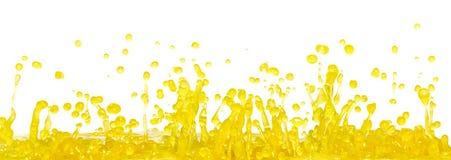 παφλασμός κίτρινος Στοκ Εικόνες