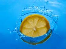 Παφλασμός λεμονιών Στοκ Φωτογραφίες