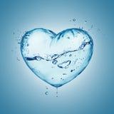 Παφλασμός νερού καρδιών Στοκ Εικόνες
