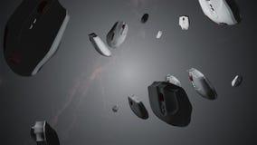 Παφλασμός του ποντικιού υπολογιστών τρισδιάστατη ζωτικότητα Αντιτίθεται διανυσματική απεικόνιση