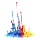 Παφλασμός χρωμάτων Στοκ εικόνες με δικαίωμα ελεύθερης χρήσης