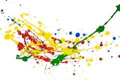 παφλασμός χρωμάτων Στοκ Εικόνες