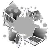 παφλασμός lap-top Στοκ εικόνες με δικαίωμα ελεύθερης χρήσης