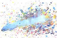 Παφλασμοί του υποβάθρου watercolor Στοκ Φωτογραφίες