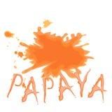 Παφλασμοί papaya του χυμού Στοκ εικόνες με δικαίωμα ελεύθερης χρήσης