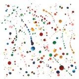 Παφλασμοί Watercolor που τίθενται στο διάνυσμα Στοκ Εικόνα