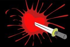 Παφλασμός αίματος καρδιών Στοκ εικόνες με δικαίωμα ελεύθερης χρήσης