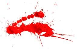Παφλασμός αίματος που απομονώνεται Στοκ Εικόνες