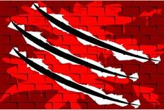 Παφλασμός αίματος τούβλου με το ίχνος μεγάλου νυχιού Στοκ φωτογραφία με δικαίωμα ελεύθερης χρήσης